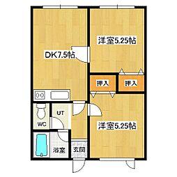 フィールドハウス[103号室]の間取り