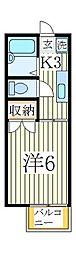 プレジール鏑木[2階]の間取り