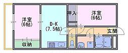 FORUM東向日[2階]の間取り