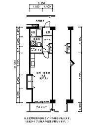 兵庫県神戸市西区学園西町7丁目の賃貸マンションの間取り