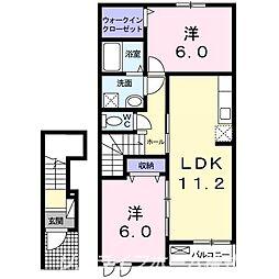 メゾンドK2[2階]の間取り