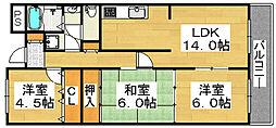 サンシャイン大和[5階]の間取り