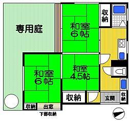 [一戸建] 東京都府中市南町4丁目 の賃貸【/】の間取り