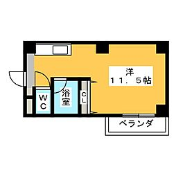 Espoir板屋[5階]の間取り