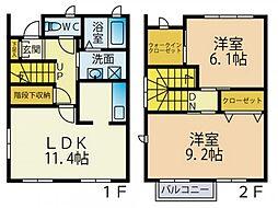 [タウンハウス] 神奈川県厚木市三田南3丁目 の賃貸【神奈川県 / 厚木市】の間取り