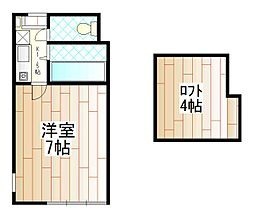 ヴィラージュ町田[2階]の間取り