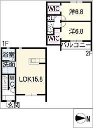 [タウンハウス] 愛知県知立市山町五八山 の賃貸【愛知県 / 知立市】の間取り