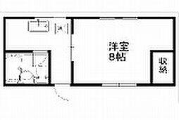 新潟県新潟市中央区米山の賃貸アパートの間取り