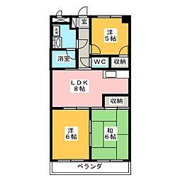 マンション司[5階]の間取り