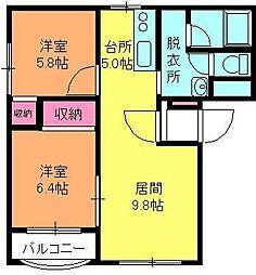 ピュアライフ坂井[301号室]の間取り