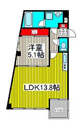 Kフラット[3階]の間取り