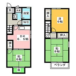 タウンハウス野路 B棟[1階]の間取り