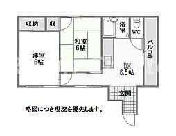 徳島県徳島市通町2丁目の賃貸マンションの間取り