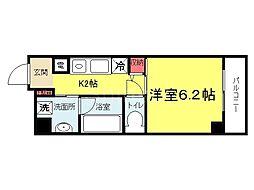 大阪府堺市北区北長尾町1丁の賃貸マンションの間取り