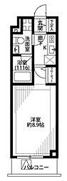 プレール・ドゥーク新宿中落合[104号室]の間取り