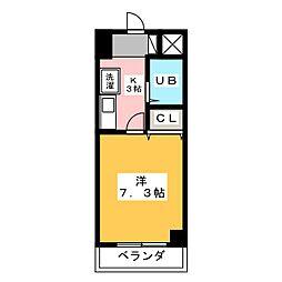 グランメールKAZU[3階]の間取り