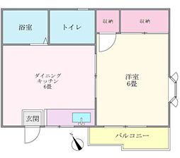 神奈川県相模原市南区上鶴間6丁目の賃貸アパートの間取り