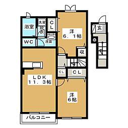 コルネ[2階]の間取り