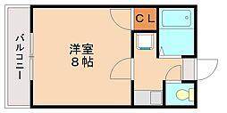ライブクリスタル[1階]の間取り