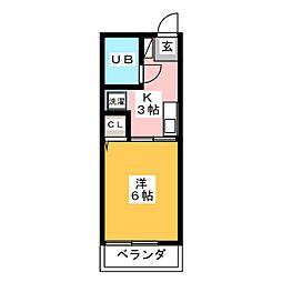 レトア[1階]の間取り