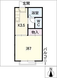 グリーンステージ三和[1階]の間取り