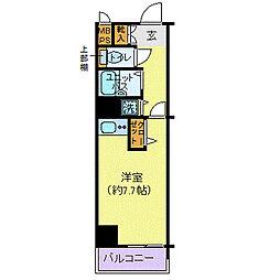 ヴェルト日本橋シティ 7階ワンルームの間取り