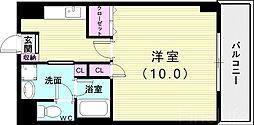 神戸市西神・山手線 伊川谷駅 徒歩5分の賃貸マンション 1階1Kの間取り