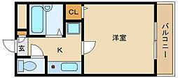 近鉄南大阪線 藤井寺駅 徒歩1分[3階]の間取り