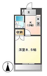 ラフィーネ新宿[1階]の間取り
