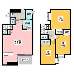 [テラスハウス] 静岡県浜松市中区佐鳴台5丁目 の賃貸【/】の間取り