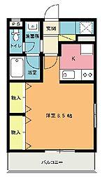 エクスバルノエル[2階]の間取り