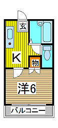 清水ハイツ[2階]の間取り