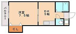 レナジア横田[2階]の間取り