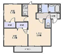 グランシードA[1階]の間取り