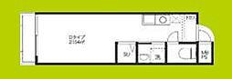 KOUMASTER NISHIKUJO 5階ワンルームの間取り