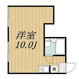 京成千原線 ちはら台駅 3.4kmの賃貸アパート 2階ワンルームの間取り