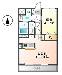 Casa Duo South North[3階]の間取り