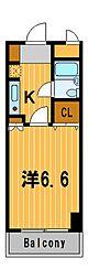 神奈川県横浜市保土ケ谷区上星川3丁目の賃貸マンションの間取り