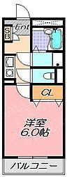 兵庫県神戸市灘区天城通1丁目の賃貸アパートの間取り