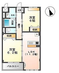 千葉県千葉市緑区あすみが丘5丁目の賃貸マンションの間取り