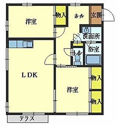 メゾン福田[1階]の間取り