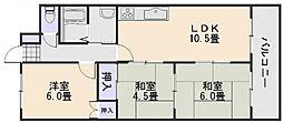 広島県広島市佐伯区五日市駅前2丁目の賃貸マンションの間取り