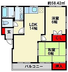 KAKU BLD[1階]の間取り