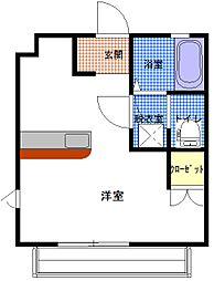 茨城県ひたちなか市大字稲田の賃貸アパートの間取り