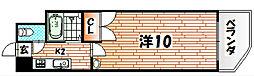 ニューエバーグリーン八幡[11階]の間取り