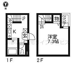More六条[103号室]の間取り
