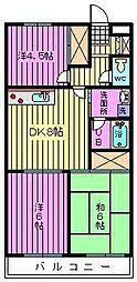 大成第2マンション[2階]の間取り
