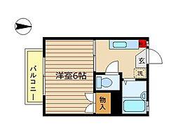 東京都世田谷区深沢7丁目の賃貸アパートの間取り
