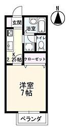 佐賀県佐賀市長瀬町の賃貸アパートの間取り