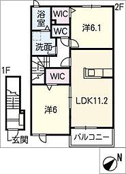 サニーハイツSEINAI II[2階]の間取り